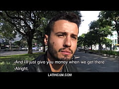 Young Straight Guy From Brazil Paid Cash To Fuc...
