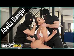 BANGBROS - Abella Danger Gets Double Anal Penetration From Masked Home Invaders And Squirts Like Crazy