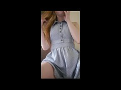 Cute Pale Ginger Whimpers When She Cums Hard In...