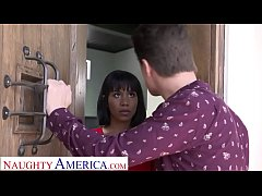 Naughty America Jenna Foxx strips and fucks for...