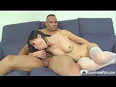 Asian in stockings loves to get penetrated