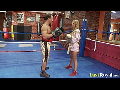 Busty Francesca Felluci learns about fighting a...