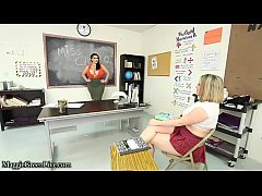 Busty Teachers Maggie Green & Angelina Castro H...