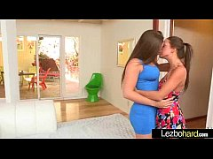 Cute Lovely Lesbos Have Fun On Camera vid-15
