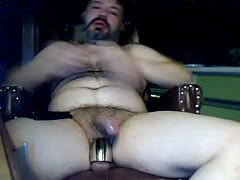 Bear jerking at home with cam