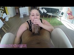 big booty blonde Mz dani taking thick black cock from Maze part 1