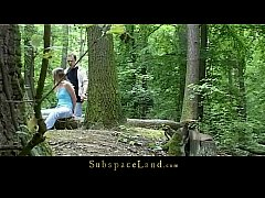 thumb claudie tied up in the forest and fucked