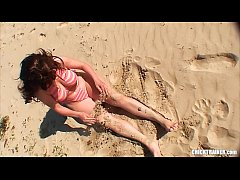 Public Bikini Boobs! Curvy Beach Babe Britney Swallows showing off her Big Ass in a Thong. Homemade Blowjob \/ Handjob Cumshot Facial with Bonus Outtakes Video