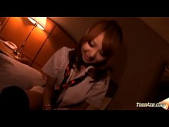 Schoolgirl Giving Blowjob Getting Her Shaved Pu...