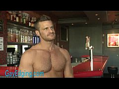 Muscled bartender bound and...
