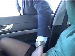Exhibition of my whore in car fingered by stranger. Public nudity