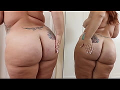 Big Bubble Butt Girl Admires Her Perfect Body And Booty