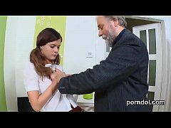 Innocent schoolgirl is seduced and pounded by h...