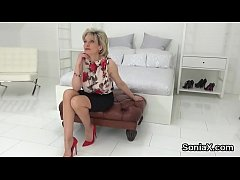 Your average milf lady bounces her massive naturals and enjoys fetish