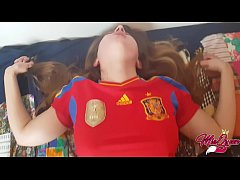 Spaniard Horny Teen helps him to lost his virginity ( Creampie )