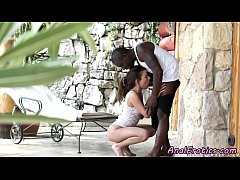 Smalltits babe assfucked by bfs black cock