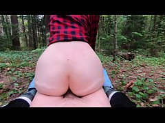 Public sex and Blowjob teen in forest- extreme sex, a lot of adrenaline sperm- amateur teen