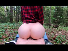 TEEN AMATEUR Outdoor public fuck in forest with stanger- Elin Flame