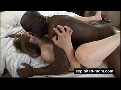 Mature housewife does big black cock in Interracial Sex Video