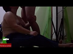 Blowjob for the fat recording with hidden cam. ...
