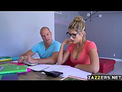 Sean licking down August Ames body starts with her tits
