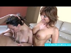 Mature mom shows teen...