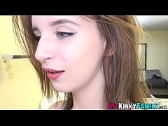 Slutty teen vlogger banged before facial