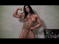 Angela Salvagno Naked Female Bodybuilder Strip