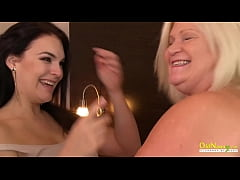 OldNannY Busty Blonde Mature Lacey with Lesbian