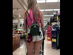 Petite Babe Haley Reed Flashes Tits in Grocery Store then Fucks You (POV)