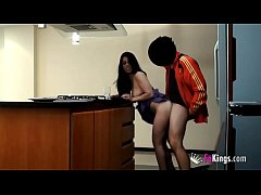 Juanito fucks another cleaning lady while filmi...