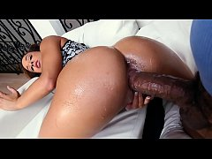 Watch my black ass bounce on his huge monster dick