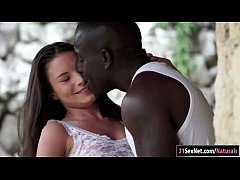 Anita Bellini sucks and analed by a fat black c...