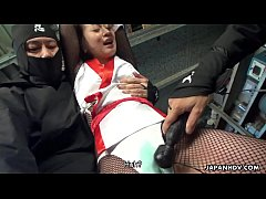 Ninjas torture the poor girl with a sex toy and...