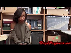 Black amateur gets fucked after getting caught ...