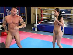 Diana Stewart vs. Zsolt - nde erotic mixed wrestling w/ blowjob face sitting