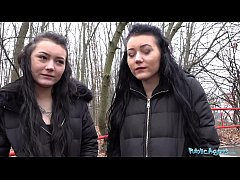 Public Agent Real Twins stopped on the street f...
