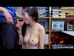 LP Officer fucks Jericha Jem from behind testing her pussy!