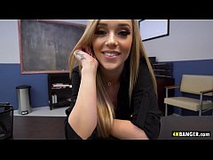 Incredibly Hot Secretary Kali Roses Applies for Boss's Cock