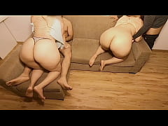 Two Big Ass Curvy Blondies Swapping Couple. Swi...
