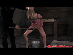 Tied up blonde sub mistreated harshly