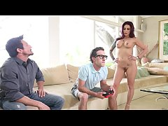 FILTHYFAMILY - Threesome With My Stepmom As A Reward For Doing Well In School