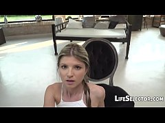 Gina Gerson - Petite Girl Playing with a Huge D...