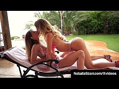 Lustful Lesbian Lovers, Natalia Starr & Jillian Janson, shove their fingers & a sex toy, in their pulsating pussies, until they orgasm for each other! Full Video & Natalia Live @ NataliaStarr.com!