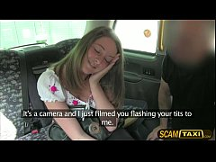 Hot Scarlet rides a cab and gets pounded hard in the backseat by big cock driver