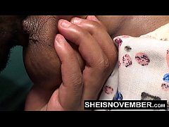 Msnovember getting Her big black nipples and ti...