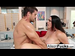 Sexy rough fuck with Alison Tyler and a hung sp...