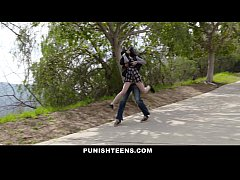 PunishTeens - Cute Goth Girl Kidnapped & Fucked In Ass
