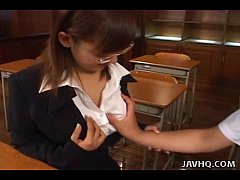 Japanese teacher pleases her...