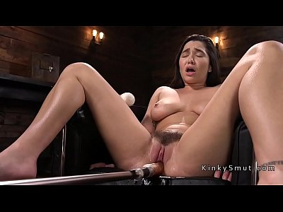porn free in Big tits and ass babe fucking machine